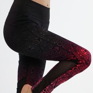 Pants - Yoga pants workout leggings LY6219-Pink